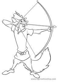Robin Hood Disney Disegno Per Bambini Da Clorare