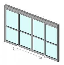curtain wall panel automatic sliding double doors