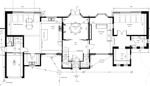 architectural floor plans ground floor set forward boths sides ...