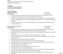 Sample Social Work Resume For Worker Intern Internship Ooxxooco
