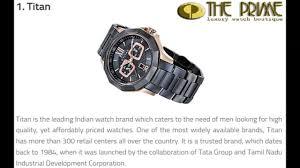 top ten watches brands in best watchess 2017 top 10 best watch brands for men in 2016 dailymotion