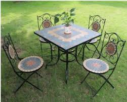 outdoor wrought iron furniture. Wrought Iron Tables And Chairs Outdoor Balcony Patio Mosaic Table Combination Parure Caf Furniture