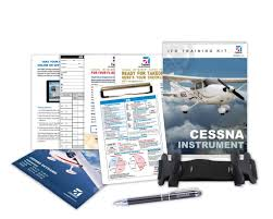 the new cessna instrument rating kit contains a myclip leg strap ifr clipboard custom glass cleaner cessna pen and a 1 year garmin pilot subscription