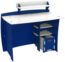 kids desk furniture. Amazon.com: Legaré Kids Furniture Race Car Series Collection, No Tools Assembly 43-Inch Complete Desk System With File Cart, Blue And White: Kitchen \u0026 T