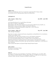 Simple Bookkeeper Resume Format Sample With Objective And Skills