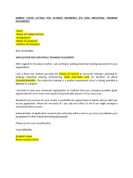 Example of Application for Industrial Training Placement
