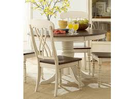 ohana wood round dining table in antique white