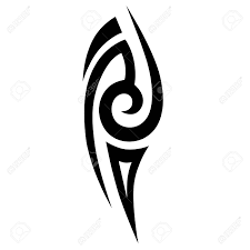 Simple Sketched Tribal Tattoos Art Tribal Tattoo Vector Sketch
