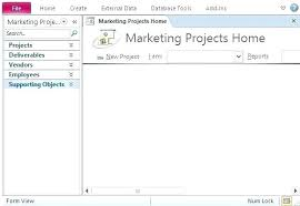 Project Management In Access Access Task Management Database Template