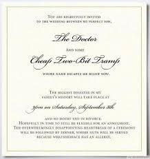 15 funny wedding invitations cards to crack guests up bestpickr Wedding Invitation Wording Quirky the unimpressed father's funny invitation card ❥❥❥ bestpickr com wedding invitation wording quirky