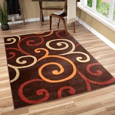 orian indoor outdoor veranda semi swirls area rug brown contemporary area rugs by orian rugs