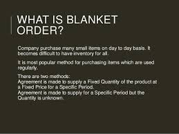 Blanket Purchase Agreement Magnificent Types Of Purchasing System