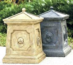 decorating decorative patio trash cans hideaway outdoor garbage decorative patio trash cans