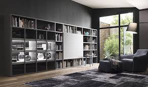 contemporary living room wall units and