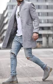 It goes great with this casual outfit. Grey Chelsea Boots With Crew Neck T Shirt Casual Spring Outfits For Men In Their 30s 4 Ideas Outfits Lookastic
