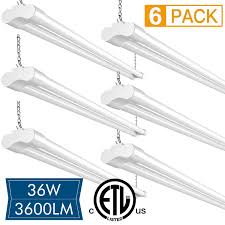 Fluorescent Garage Lights Buy 6 Pack Led Shop Lights For Garage 36w 4ft Amico Utility