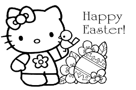 Small Picture Hello kitty easter coloring pages to download and print for free