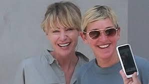Ellen And Portia Ellen Degeneres Portia De Rossi Stay Close In La Ellen