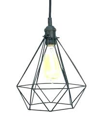 wire cage light chandelier fixtures dining room plans extraordinary worth home industrial