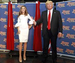 Melania Trump s Wax Figure Nods RNC Speech in White Dress Nude.