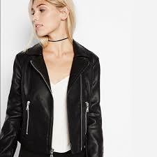 express jackets blazers nwot black minus the leather zip up moto jacket