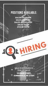 Recruitment Brochure Template Job Hiring Bw Instagram Story Ad Template Recruitment