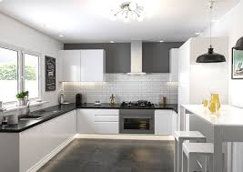 White kitchen Black Sink The Home Depot Ringmer High Gloss White Kitchen Doors Made To Measure From 519