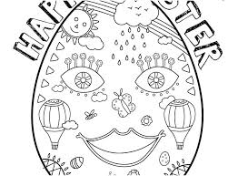 Happy Easter Day Coloring Pages Free Printable 2018 Sheets Bunny