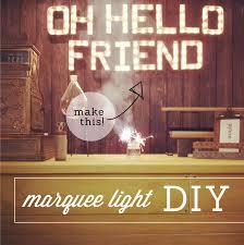 hello diy marquee light