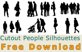 Cutout Person and People Silhouette Free Download Photoshop