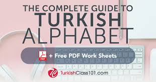 Learn The Turkish Alphabet With The Free Ebook Turkishclass101