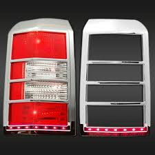 jeep patriot tail light bezel trim covers chrome plated with led 2pc mtlb518 jeep patriot patriots and tail light