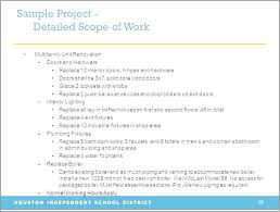 sample scope of work construction scope of work template example free sample newbloc