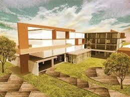 Architecture Design Photoshop Hostel Project Exterior Render Architectural Visualisations