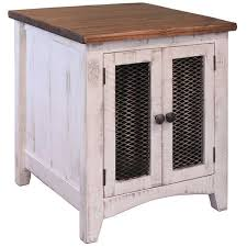 Pueblo White End Table IFD360END W Artisan Home by IFD
