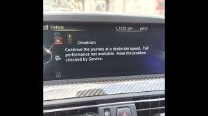 Drivetrain Warning Light Bmw 1 Series Drivetrain Error Message On Bmw M5 M6