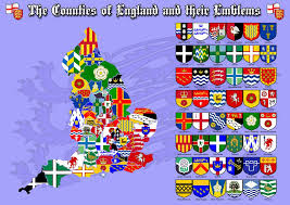 English County Flags Chart The Counties Of England Their Flags Emblems County