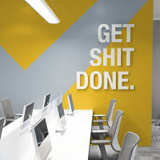 3D Office Design Cool Get Shit Done Office Decor 48D Quotes Wall Decor Office Etsy