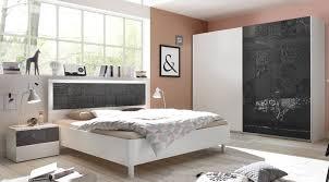 Schlafzimmerset Weiss Anthrazit Siebdruck Xaria10 Designermöbel