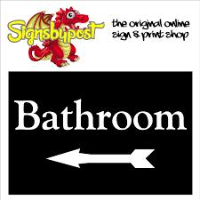 bathroom sign with arrow. Delighful Arrow Bathroom Sign With Left Arrow 1981 Throughout Sign With Arrow L