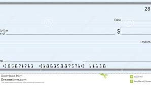 check template large blank check blue stripe background blank check template for