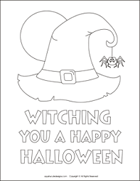Small Picture Free Halloween coloring pages witch coloring sheets witch hat