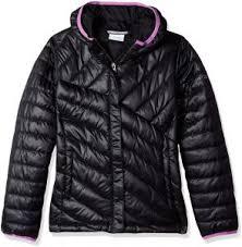 Columbia Big Boys Powder Lite Puffer Jacket Black Crown Jewel X Large