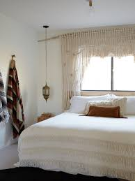 sears bedroom curtains. macrame window curtain/window frame at the joshua tree casita, an airbnb, kate sears bedroom curtains
