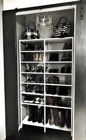 Shoe closet/ shoe shelf/ shoe rack. Ikea Vittsjo Shelf modified into a  glamorous