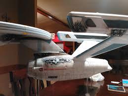 1 350 scale polar lights uss enterprise refit model battle damage star trek shipsmodel kitsscale