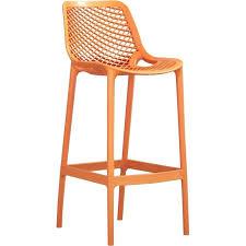 orange bar stool patio ikea leather stools australia