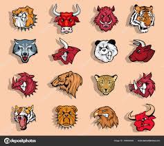 Sada Tetování Zvířat Stock Vektor Korniakovstock At Gmailcom