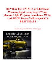 Angel Wings Light Car Review Fstuning Car Led Door Warning Light Lamp Angel Wings