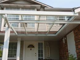 glass roof attached to side fascia clear patio covers23